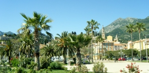 Menton, France, from the Sea