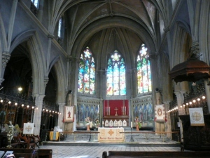 Interior of Holy Trinity Church, Nice, France